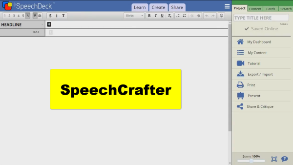 SpeechCrafter Editor Released to Public